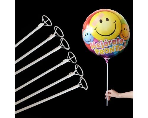 Палочки большие для шаров - 51 см (белые)