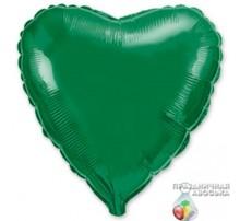 Шар Flexmetal Сердце Зеленое 18'