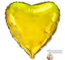 Шар Flexmetal Сердце Золото 18'