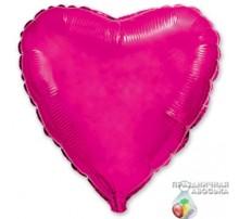 Шар Flexmetal Сердце Фуксия 18'