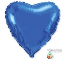 Шар Flexmetal Сердце Синее 18'