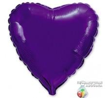 Шар Flexmetal Сердце Фиолетовое 18'