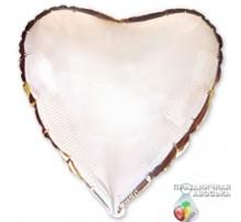 Шар Flexmetal Сердце Серебро 18'