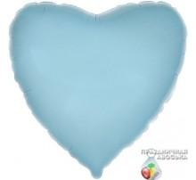 Шар Flexmetal Сердце Голубое 18'