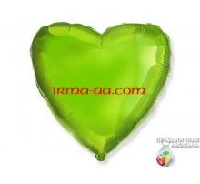 Шар Flexmetal сердце «Салатовое» 18'