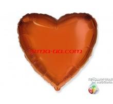 Шар Flexmetal сердце «Оранжевое» 18'