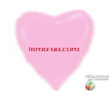Шар Flexmetal сердце «Розовое перламутровое» 18'
