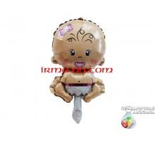 Фольгированный шар мини-фигура Китай — Пупс девочка