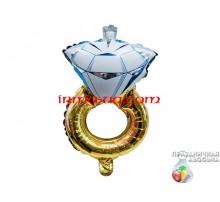 Фольгированный шар мини-фигура Китай — Кольцо с диамантом