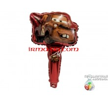 Шар фольгированный с ручкой Китай — Тачка пикап на красном