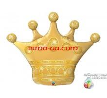 Фольгированный Шар-Фигура Qualatex «Корона Золотая» 89 см