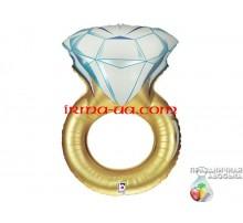 Фольгированный Шар-Фигура Grabo «Обручальное кольцо золото» 79 см