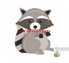 Фольгированный Шар-Фигура Grabo «Енот» 65 см