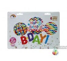 Фольгированная надпись «Happy Birthday B-Day»