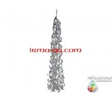 Кисточка-тассел серебро перламутр 85х29