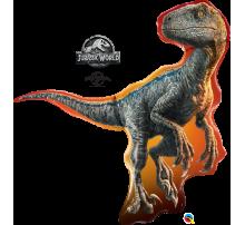 """Фольгированный Шар-Фигура Qualatex """"Динозавр Раптор"""" 97 см"""