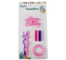 """Свечи для торта """"Happy Birthday"""" (F18) розовые"""