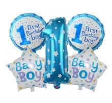"""Набор Фольгированных Шаров (Китай) """"First Birthday Boy"""""""
