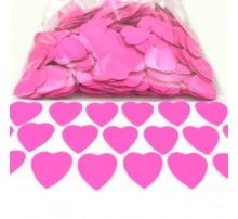 """Конфетти """"Сердечки большие"""" - розовые"""