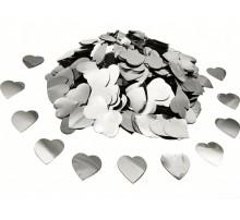 "Конфетти ""Сердечки большие"" - серебро"