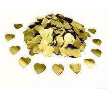 "Конфетти ""Сердечки маленькие"" - золото"