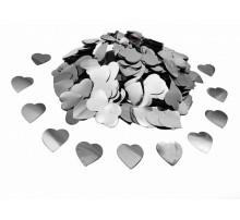 "Конфетти ""Сердечки маленькие"" - серебро"