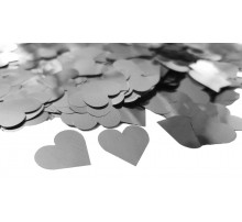 "Конфетти ""Сердечки микро"" - серебро"