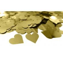 """Конфетти """"Сердечки микро"""" - золото"""