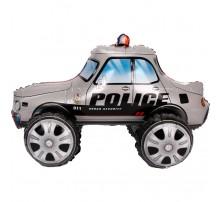 """Фольгированный шар-ходячка Китай """"Машинка"""" - полиция серая"""