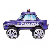 """Фольгированный шар-ходячка Китай """"Машинка"""" - полиция фиолетовая"""