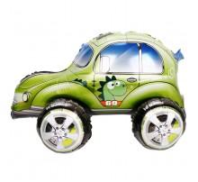 """Фольгированный шар-ходячка Китай """"Машинка"""" - динозаврик зеленый"""