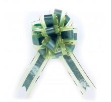 Бант подарочный, затяжной - зеленый