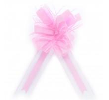 Бант подарочный, затяжной - розовый