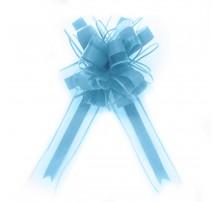 Бант подарочный, затяжной - голубой