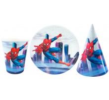 Набор посуды «Человек-Паук над городом»