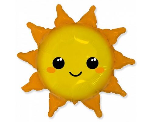 """Фольгированный шар фигура Flexmetal """"Солнышко"""""""