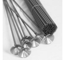 Палочка-держатель для шаров 51 см - серебро