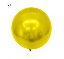 """Шар Bubbles """"Metallic"""" 22` - желтый"""