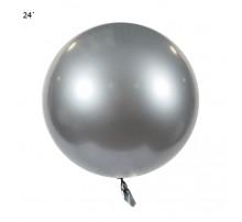"Шар Bubbles ""Metallic"" 22` - серебро"
