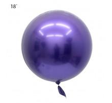 """Шар Bubbles """"Metallic"""" 18` - фиолетовый"""