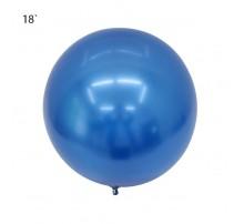 """Шар Bubbles """"Metallic"""" 18` - синий"""