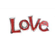 """Фольгированная надпись """"LOVE"""" - красно-серебрянный"""