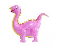 """Фольгированный Шар Хлодячка Китай """"Динозавр"""" - розовый (четыре ножки)"""