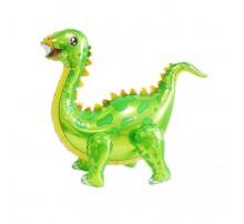 """Фольгированный Шар Хлодячка Китай """"Динозавр"""" - зеленый (четыре ножки)"""
