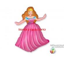 """Фольгированный шар фигура Flexmetal """"Принцесса розовая"""" 91см"""